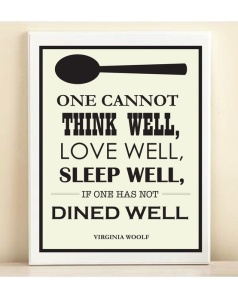 virginia woolf- dined well